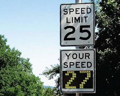 Your speed sign file photo