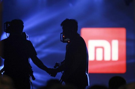 A logo of Xiaomi is seen at Xiaomi's tablet launch event in Beijing, May 15, 2014. REUTERS/China Daily