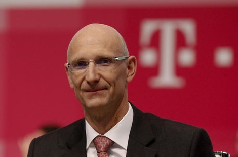 Deutsche Telekom AG member of the board of management Timotheus Hoettges attends the company's general shareholders meeting in Cologne May 1