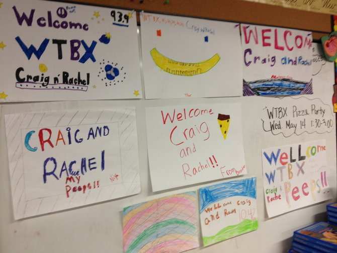 More Welcome Signs in the classroom.