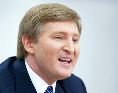 An eastern Ukrainian steel and coal magnate Rinat Akhmetov who is considered Viktor Yanukovych's main financial backer answers journalist's