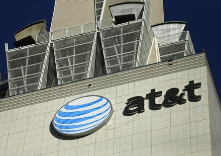 An AT&T building is pictured in Los Angeles, California May 13, 2014. REUTERS/Mike Blake