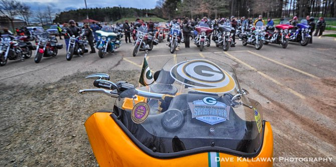 Green & Gold Pride ALL OVER this bike..Yeah!!