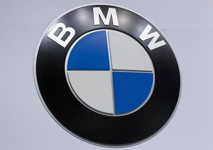 A BMW logo is pictured at the Jacob Javits Convention Center during the New York International Auto Show in New York April 16, 2014. REUTERS