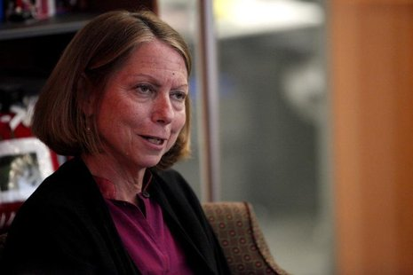 New York Times Executive Editor Jill Abramson speaks during an interview in New York September 21, 2011. REUTERS/Kena Betancur