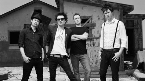 Image courtesy of Sum 41; Deryk Whibley, second from left/Island Records (via ABC News Radio)