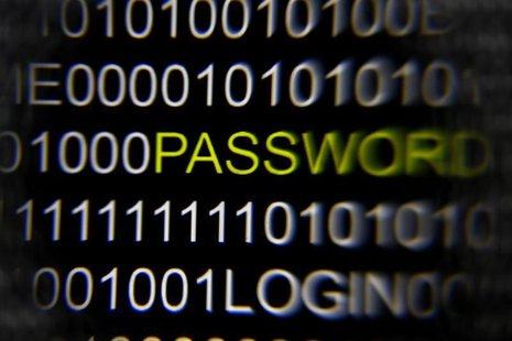The word 'password' on a computer screen is magnified with a magnifying glass in this picture illustration taken in Berlin May 21, 2013. REU