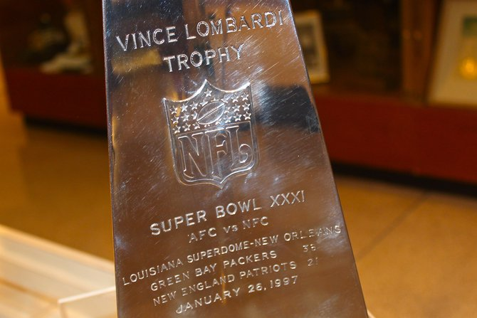 Up Close with the Super Bowl XXXI Trophy