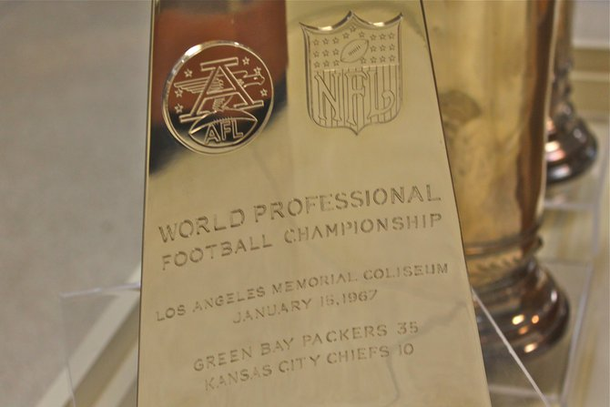 Up Close with the Super Bowl I Trophy