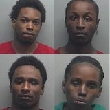 Those arrested include Dornell Williams Jr. (upper left), Melvin Williams (upper right), Curtis Hill (bottom left), and Larenna Neeley (bottom right).