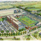 Artist rendering of the proposed upgrades to SDSU's football stadium in Brookings