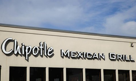 The sign for Chipotle Mexican Grill's restaurant is seen in Westminster, Colorado October 17, 2013. REUTERS/Rick Wilking
