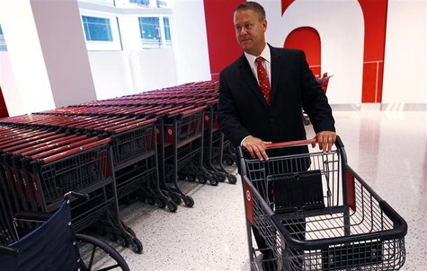 Target's Senior Vice President Mark Schindele tours a new CityTarget store as they prepare for its opening in downtown Chicago July 18, 2012