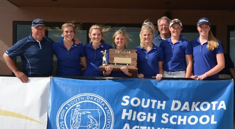 The Knight golfers had a record setting state tournament capped off by winning the team title and placing 4 individuals in the top 10. Image credit: SDPB