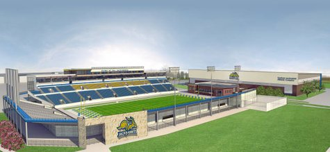 Concept drawing of the new football stadium at South Dakota State University.  (SDSU.edu)