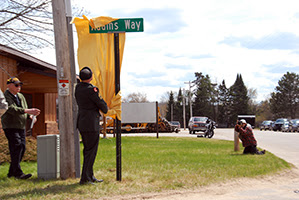 Adams Way dedication in Rhinelander, WI  Photo: Wisconsin Department of Military Affairs