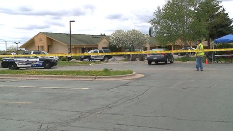 Grand Chute police are investigating a possible meth lab at a hotel on College Ave., Thursday, May 22, 2014. (Photo from: FOX 11.)
