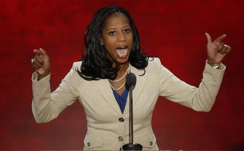 Republican U.S. congressional candidate and Saratoga Springs, Utah Mayor Mia Love addresses the second session of the Republican National Co