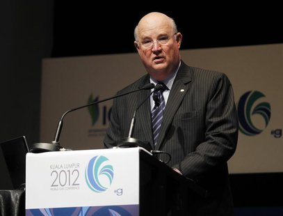 Vice Chairman and Executive Vice President for Upstream & Gas of Chevron Corporation George Kirkland speaks during the World Gas Conference