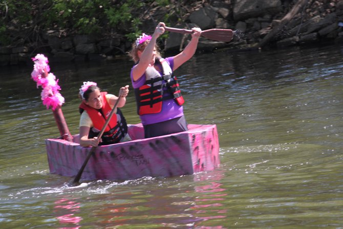 Murphy, Katie & Nick hosted the Redneck Regatta cardboard boat race at Celebrate De Pere 2014