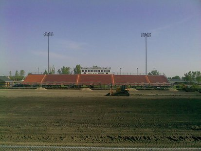 Renovation work being done on Moorhead High School's track and field