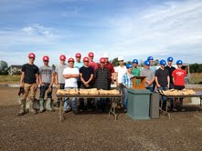 Students from Sheboygan North and South High School who will be working on the district's 2013-14 home construction project.