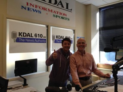 Actor Mackenzie Astin with KDAL's Pat Kelly
