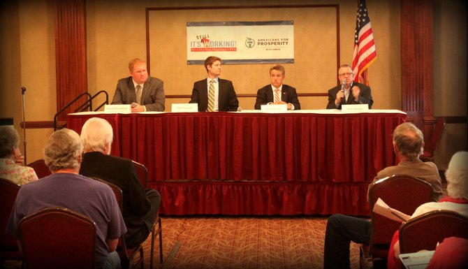"Jerry Bader was on the panel at the Americans for Prosperity Wisconsin Foundation event on 5/29/14 in Green Bay, to get the good news out about Wisconsin's budget reforms titled  ""It's Working Wisconsin!""."