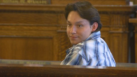 NeeGee Cloud appears in Brown County court on Friday, May 30, 2014. (Photo from: FOX 11).