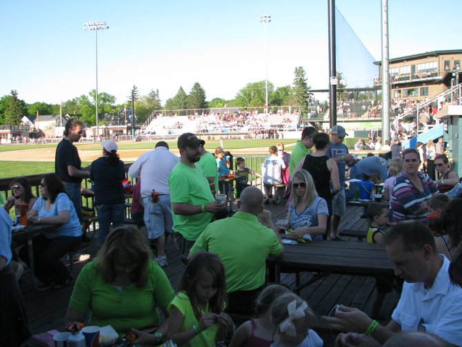 Athletic Park deck in left field