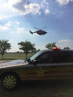 victim was Life-Lined to an Indianapolis Hospital. photo provided by Vigo County Sheriff