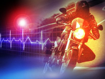 Motorcycle misses a curve in Cass County Saturday.