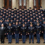 Graduates of the 126th Michigan State Police Academy.