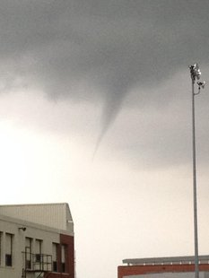 Funnel cloud near Foss Field in Sioux Falls Sunday afternoon.