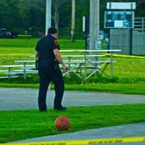 Police on-scene at Kiwanis Park (Courtesy Sheboygan Nigh Scanner)