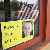 A sign of support of Army Sergeant Bowe Bergdahl is seen in Hailey, Idaho June 1, 2014. REUTERS/Patrick Sweeney