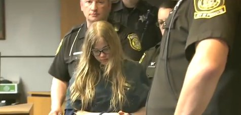 12-year-old suspect Morgan E. Geyser is accused of helping to stab another 12-year-old girl 19 times. (Photo from: FOX 11/YouTube).