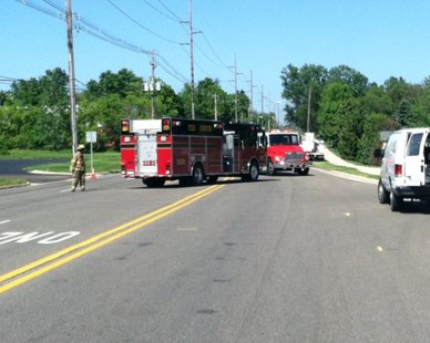 Holland DPS crews block off 48th Street west of Lincoln Avenue due to a gas leak on June 3, 2014.
