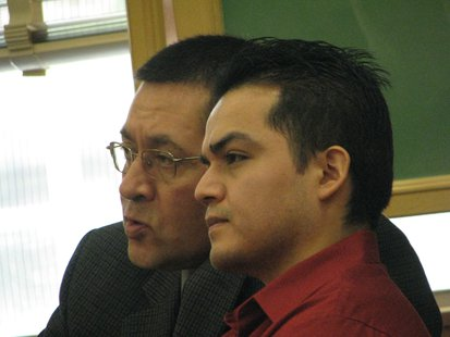 Reymundo Perez and his translator in court