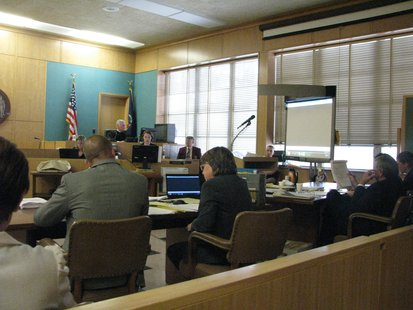 Portage County Branch II Courtroom during Reymundo Perez trial