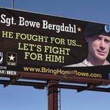 A billboard calling for the release of U.S. Army Sergeant Bowe Bergdahl, held for nearly five years by the Taliban after being captured in Afghanistan, is shown in this picture taken near Spokane, Washington on February 25, 2014. CREDIT: REUTERS/JEFF T. GREEN