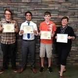 Entry winners for this year's Sheboygan County Service Providers video contest pose with their certificates.