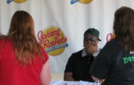B.J. Raji at the new Johnny Rockets in Oshkosh 3