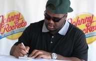 B.J. Raji at the new Johnny Rockets in Oshkosh: Cover Image