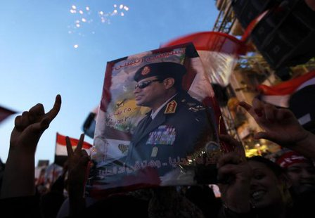 al-Sisi, courtesy Reuters