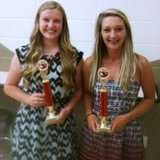 (L-R) )2014 Coldwater High School Varsity Girls Soccer co-MVP's Shelby Bowers and Maggie Morrison