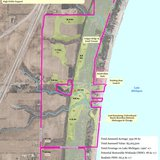 A map of the Amsterdam Dunes property Sheboygan County wants to buy for preservation and establish a wetland mitigation bank.