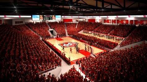 Artists rendering of the inside of USD's new 6,000 seat basketball and volleyball arena. Image Courtesy: USD