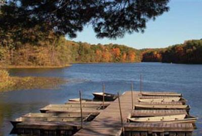 boat dock at Shakamak State Park