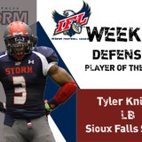 Storm LB Tyler Knight. Graphic Courtesy: IFL